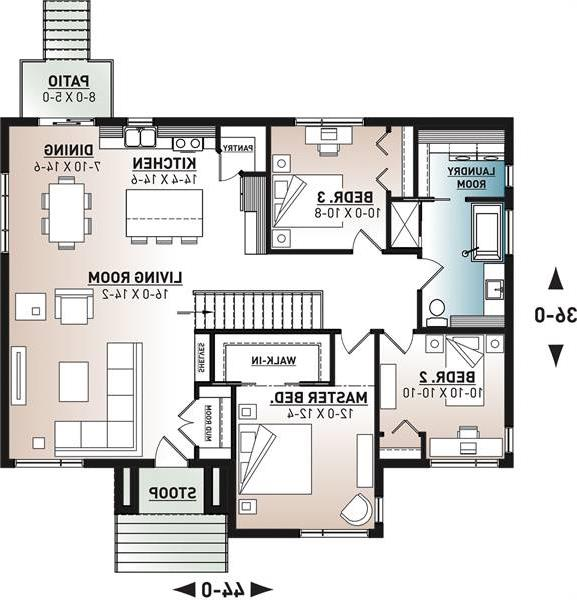1st Floor Plan image of Featured House Plan: BHG - 6565
