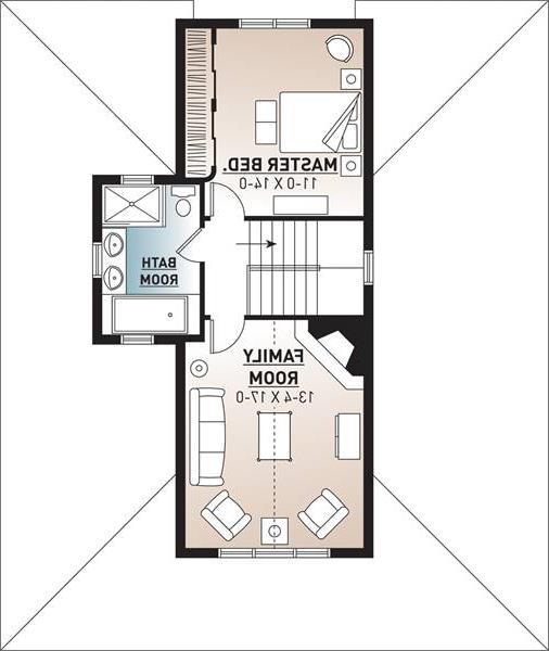 2nd Floor Plan image of Featured House Plan: BHG - 9845