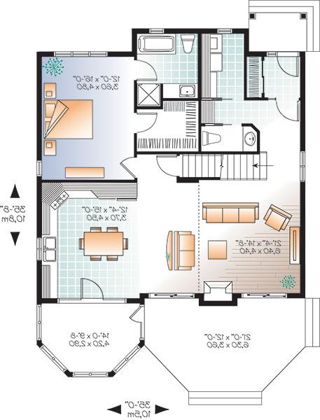 First floor image of Featured House Plan: BHG - 9817
