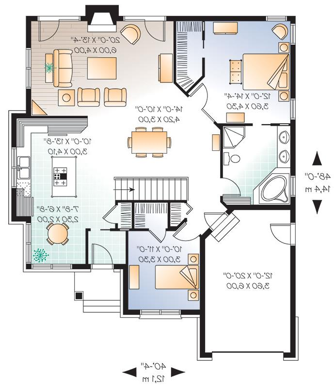 First level image of Featured House Plan: BHG - 9551
