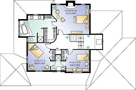 Second level image of Featured House Plan: BHG - 4670