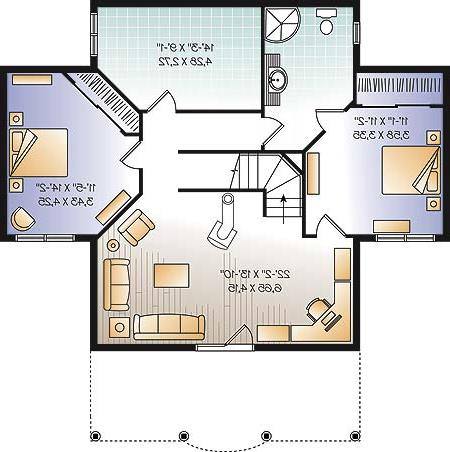 Basement image of Featured House Plan: BHG - 4945