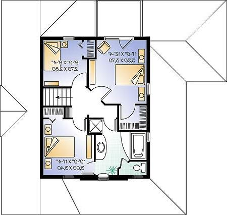 Second level image of Featured House Plan: BHG - 4576
