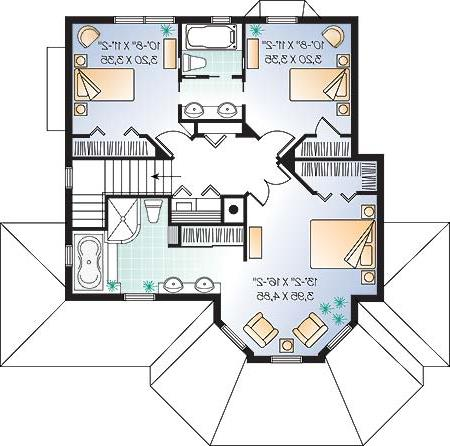 Second level image of Featured House Plan: BHG - 4669