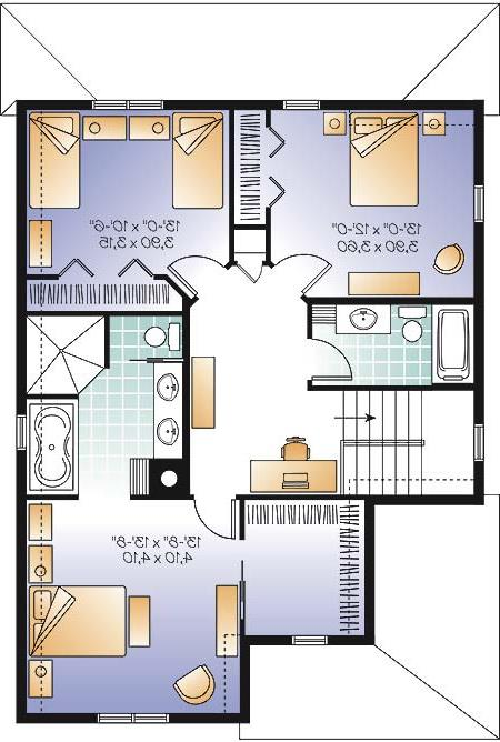Second level image of Featured House Plan: BHG - 4579