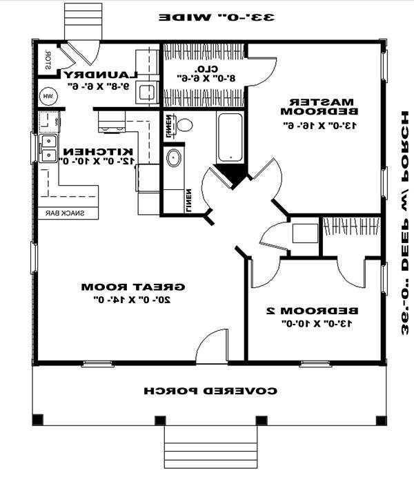 Floor Plan image of Featured House Plan: BHG - 6516