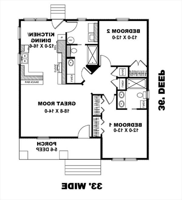 Floor Plan image of Featured House Plan: BHG - 8482