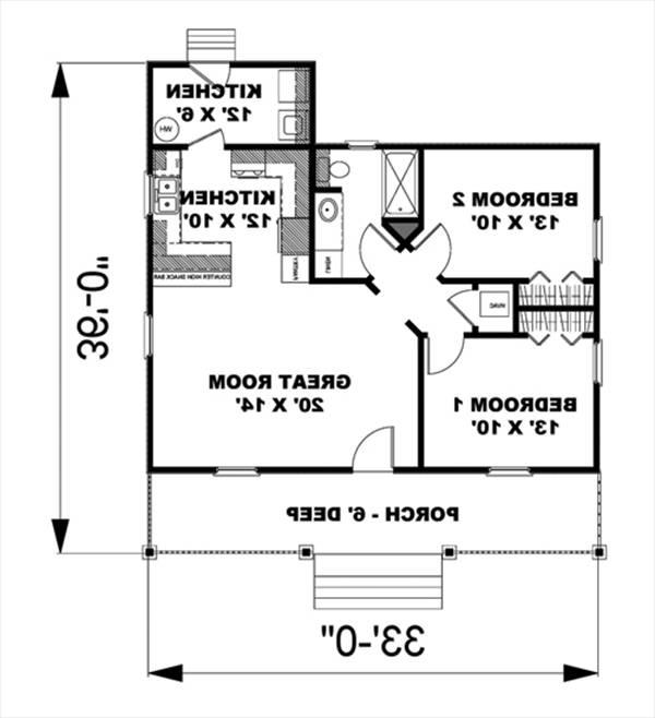 Floor Plan image of Featured House Plan: BHG - 5634