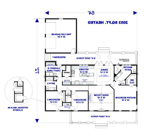 Floor Plan image of Featured House Plan: BHG - 3076