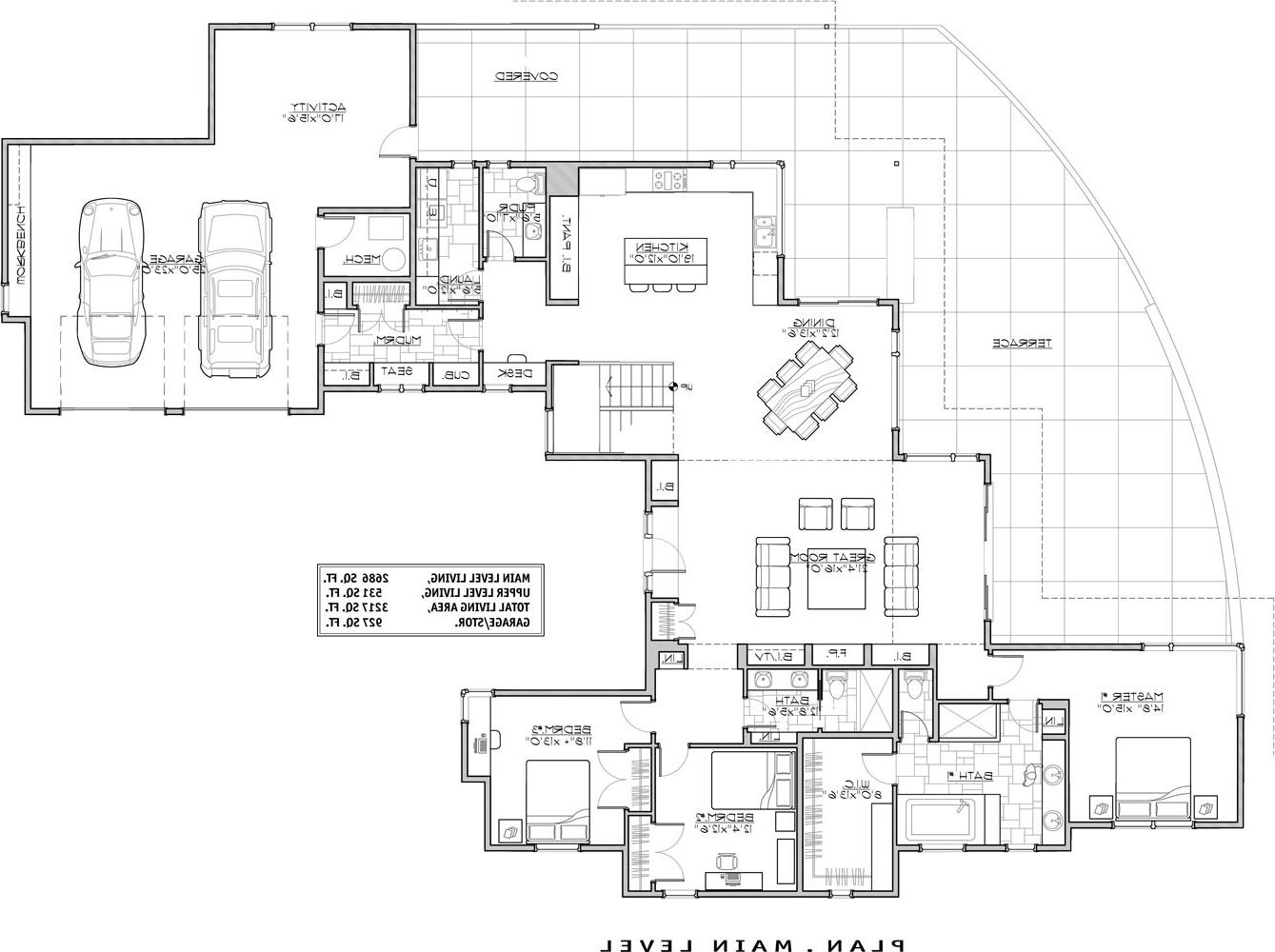 1st Floor Plan image of Featured House Plan: BHG - 9044