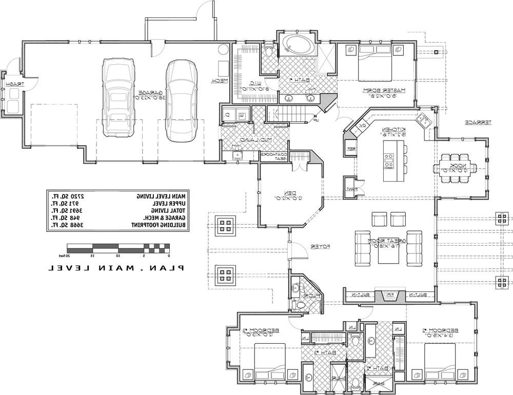 1st Floor Plan image of Featured House Plan: BHG - 9068