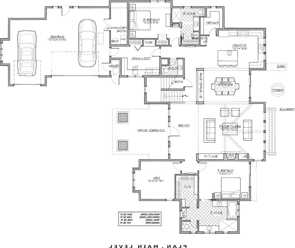 1st Floor Plan image of Featured House Plan: BHG - 9069