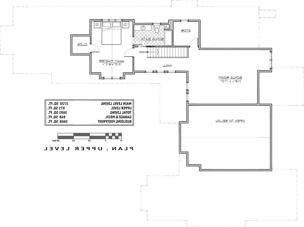 2nd Floor Plan image of Featured House Plan: BHG - 9068