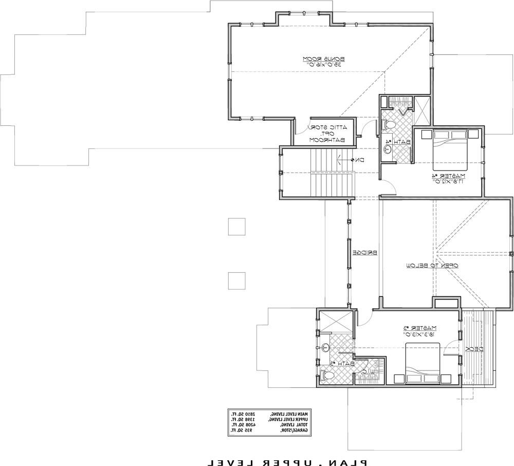 2nd Floor Plan image of Featured House Plan: BHG - 9069