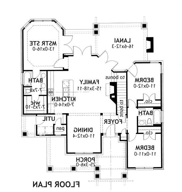 First Floor Plan image of Featured House Plan: BHG - 2259