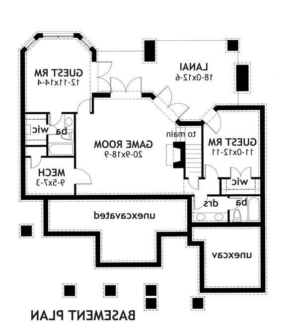 Basement Plan image of Featured House Plan: BHG - 2259