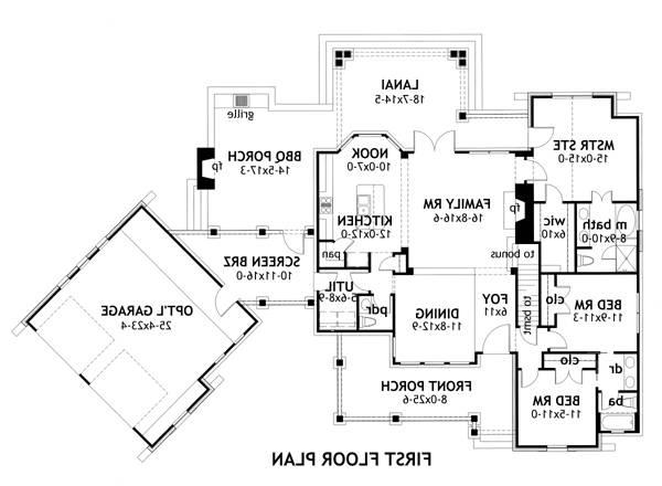 First Floor Plan image of Featured House Plan: BHG - 2138