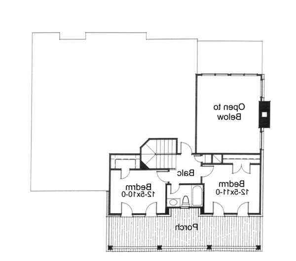 Second Floor Plan image of Featured House Plan: BHG - 5773