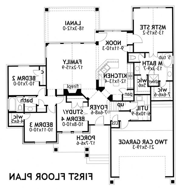First Floor Plan image of Featured House Plan: BHG - 3271