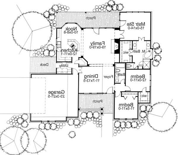 First Floor Plan image of Featured House Plan: BHG - 5786