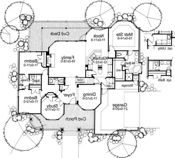 First Floor Plan image of Featured House Plan: BHG - 5802