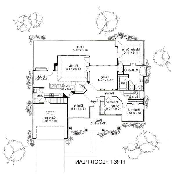 First Floor Plan image of Featured House Plan: BHG - 6385