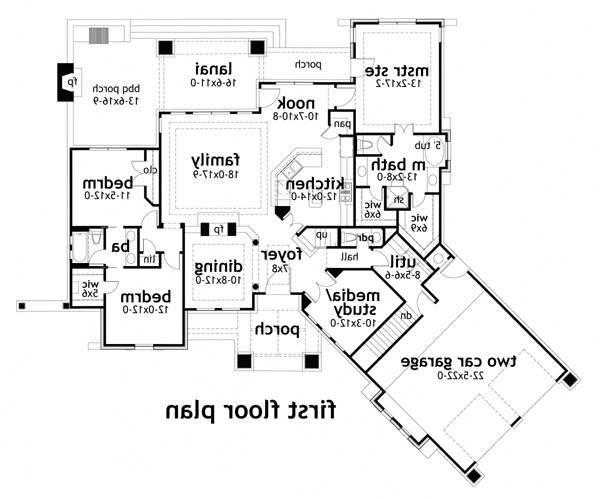 First Floor Plan image of Featured House Plan: BHG - 3057