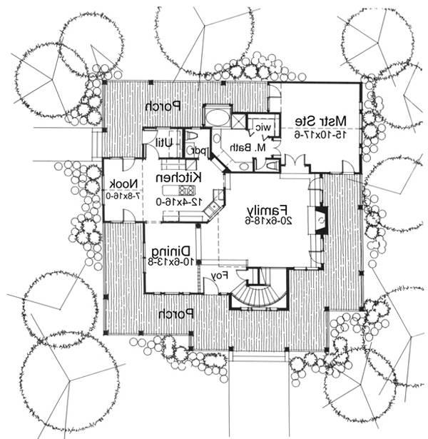 First Floor Plan image of Featured House Plan: BHG - 5770