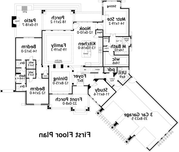First Floor Plan image of Featured House Plan: BHG - 4531