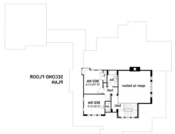Second Floor Plan image of Featured House Plan: BHG - 2035