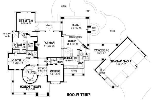 First Floor Plan image of Featured House Plan: BHG - 2325