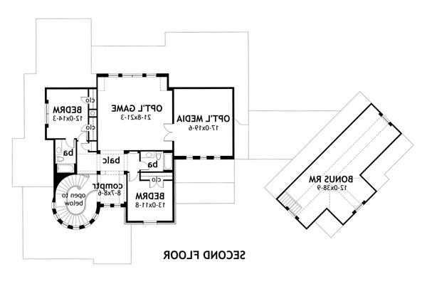 Second Floor Plan image of Featured House Plan: BHG - 2325