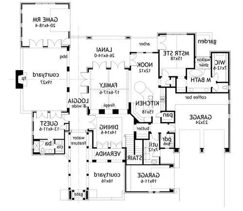 First Floor Plan image of Featured House Plan: BHG - 1888