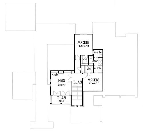 Second Floor Plan image of Featured House Plan: BHG - 1888