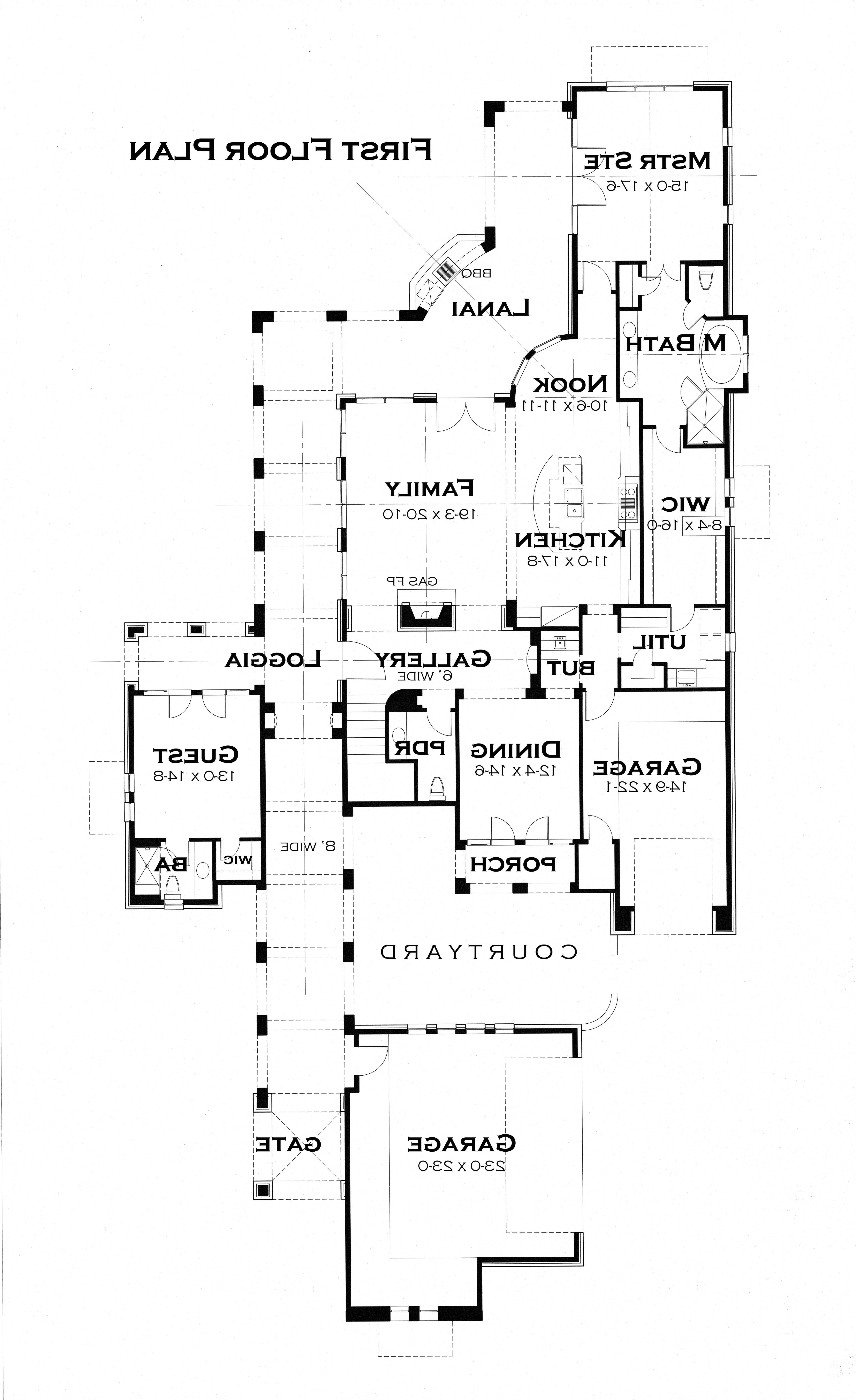 First Floor Plan image of Featured House Plan: BHG - 3123