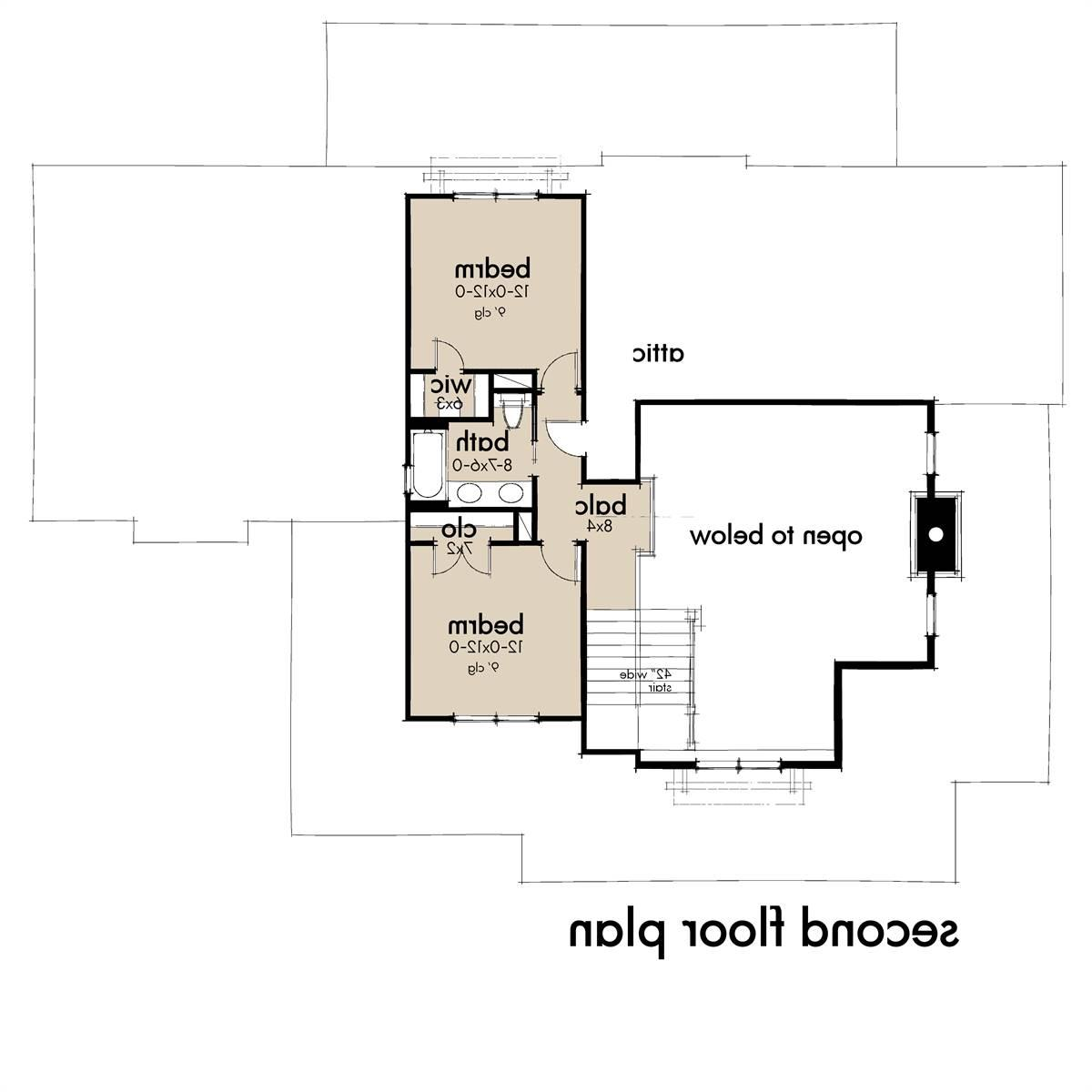 Second Floor Plan image of Featured House Plan: BHG - 7369