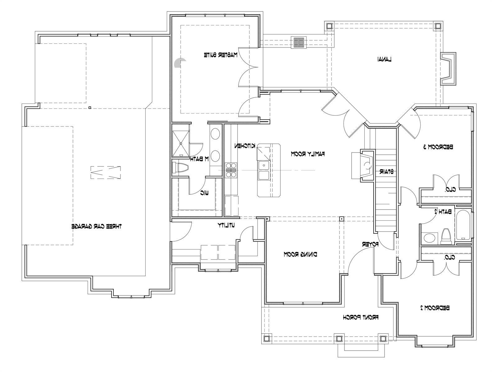 3-Car Option image of Featured House Plan: BHG - 7377
