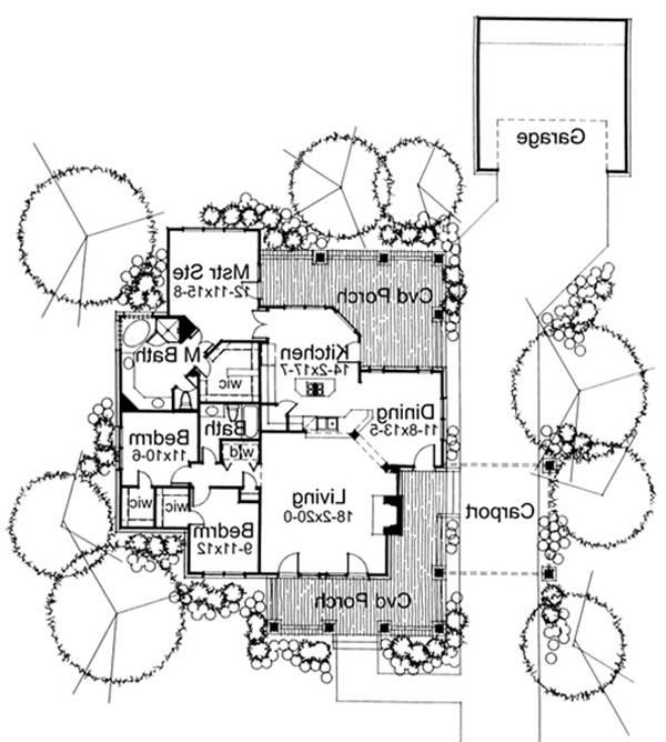 First Floor Plan image of Featured House Plan: BHG - 5769