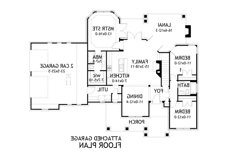 Attached Garage Plan image of Featured House Plan: BHG - 2259