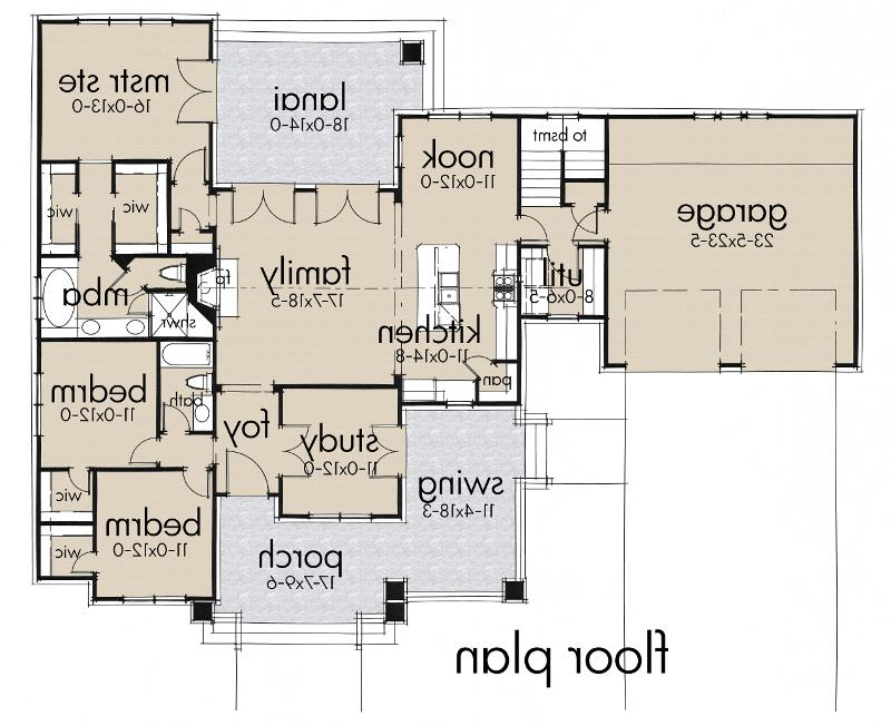 First Floor Plan image of Featured House Plan: BHG - 5517