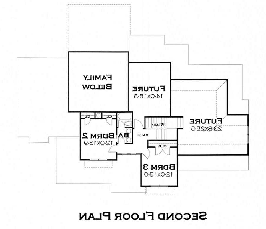 Second Floor Plan image of Featured House Plan: BHG - 5219