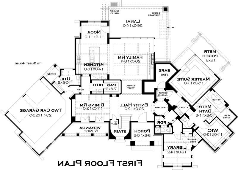 First Floor Plan image of Featured House Plan: BHG - 5285