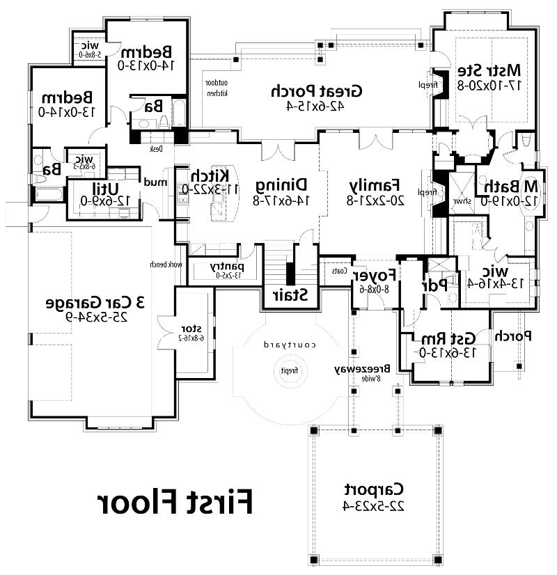 First Floor Plan image of Featured House Plan: BHG - 5516