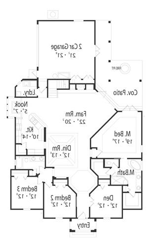 First Floor Plan image of Featured House Plan: BHG - 5030
