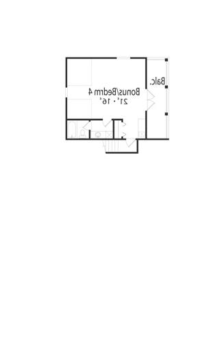 Bonus Room image of Featured House Plan: BHG - 5030