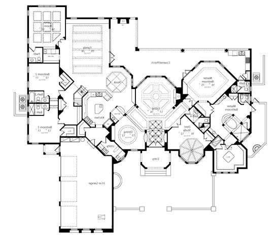 First Floor Plan image of Featured House Plan: BHG - 6513