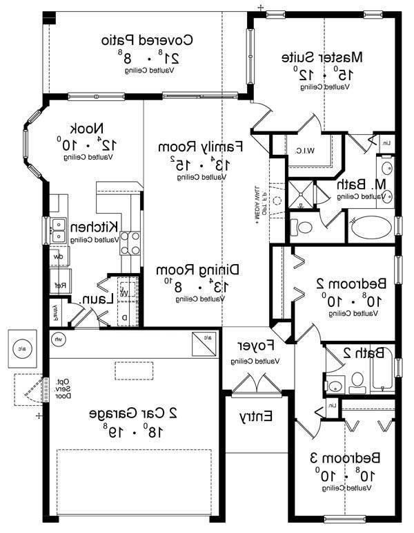 First Floor Plan image of Featured House Plan: BHG - 8875