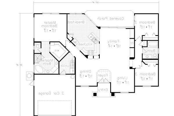 Floor Plan image of Featured House Plan: BHG - 4355