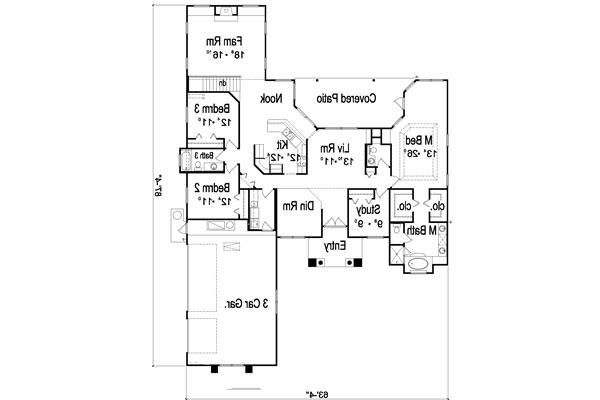 Floor Plan image of Featured House Plan: BHG - 4934