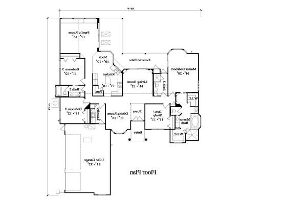 Floor Plan image of Featured House Plan: BHG - 4923